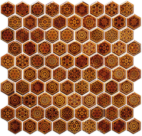 Mosaico Tesela Hexagonal 27.7 x 27.7