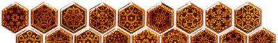 Mosaico Tesela Hexagonal remate