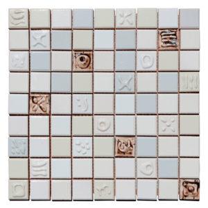 Mosaico Tesela cuadrada con relieve 29.7 x 29.7
