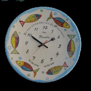 Plato 40 cm reloj personalizado